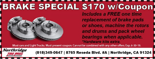 Brake Special, only $170 w/Coupon!