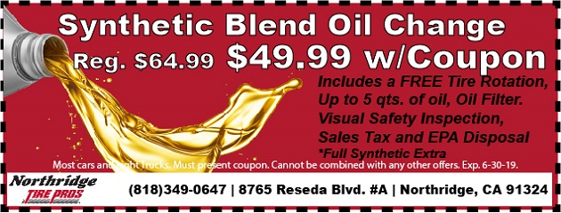 Synthetic Blend Oil Change. was $64.99, $49.99 w/Coupon!