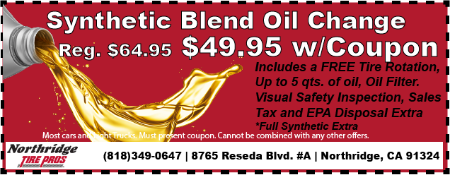 SYNTHETIC BLEND OIL CHANGE, ONLY $49.99!