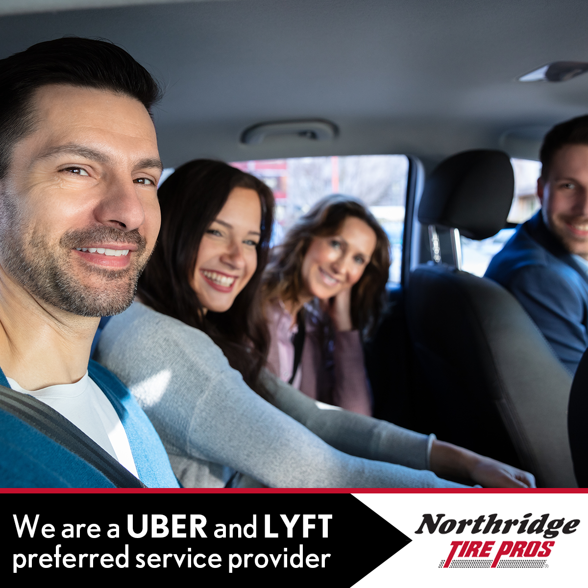 We are UBER and LYFT Preferred Service Provider!